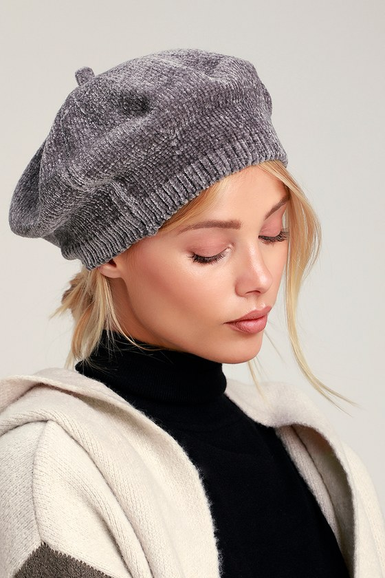 WATERFORD GREY CHENILLE BERET