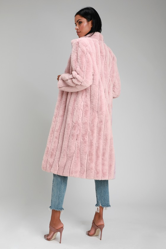 947acdcc25 Chic Faux Fur Coat - Pink Faux Fur Coat - Long Faux Fur Coat
