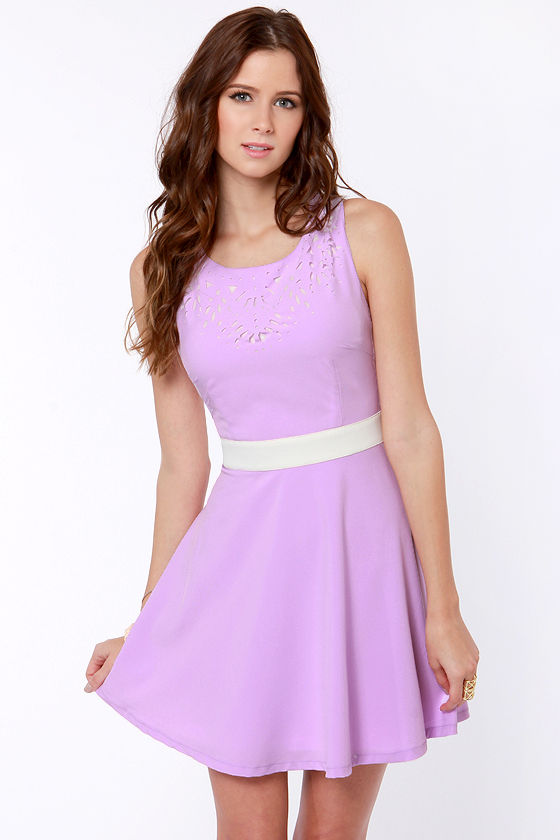 Cute Lavender Dress - Cutout Dress - Backless Dress - $38.00