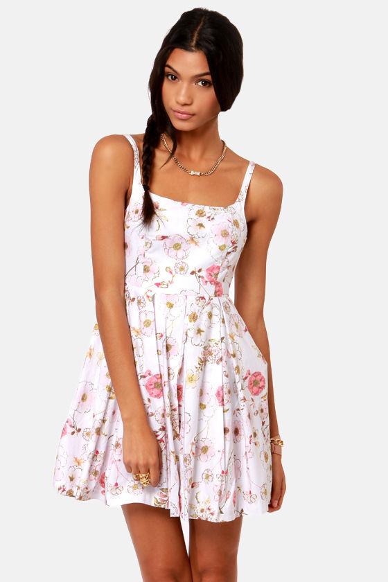 Bb dakota galilee dress white dress floral print dress 8300 bb dakota galilee white floral print dress mightylinksfo