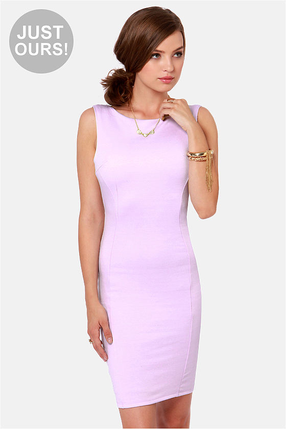 LULUS Exclusive Bateau-n Rouge Lavender Backless Dress