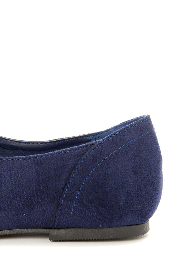 City Classified Desta Navy Blue Lace-Up Oxfords at Lulus.com!