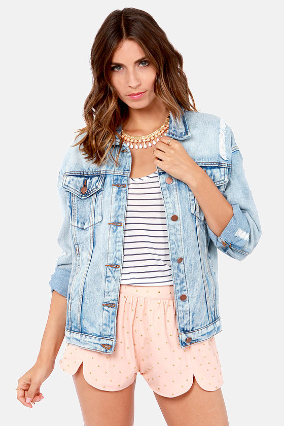 Cute Denim Jacket - Blue Jacket - Jean Jacket - $79.00
