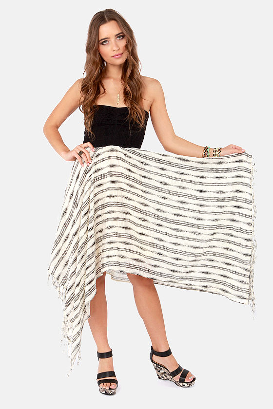 Billabong Blissful Dayz Ivory and Black Dress at Lulus.com!