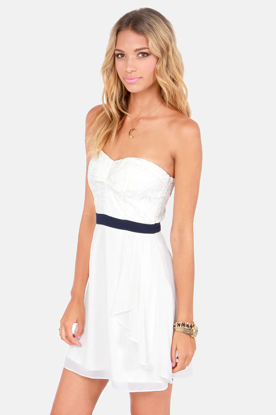 How Sweet It Is Ivory Lace Dress at Lulus.com!
