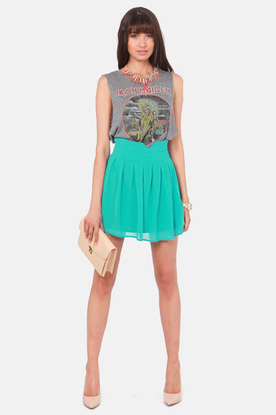 Over the Top Teal Blue Skirt at Lulus.com!