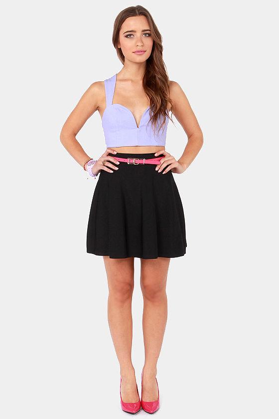 Cute Black Skirt - High-Waisted Skirt - Skater Skirt - $55.00