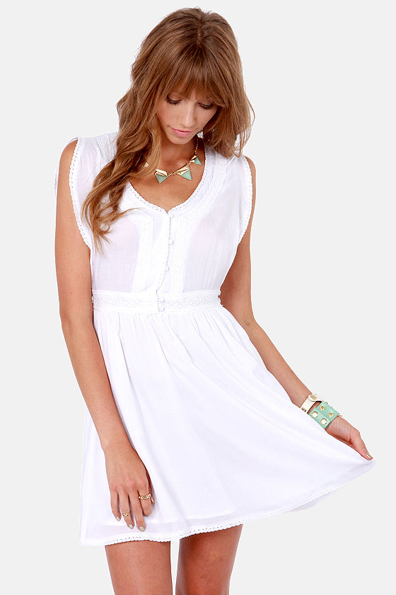 Ladakh Pina Colada White Lace Dress at Lulus.com!