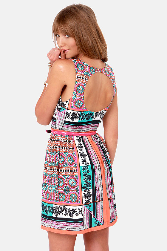 Ladakh Resort Scarf Print Dress at Lulus.com!