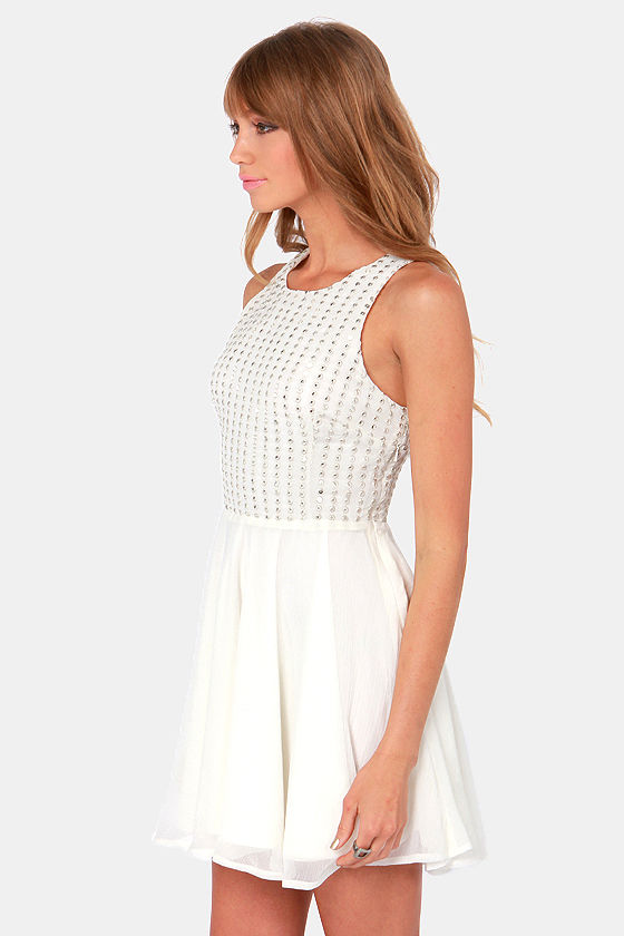 Ladakh Queens Ivory Sequin Dress at Lulus.com!