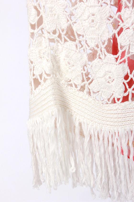 Ladakh Ava Ivory Crochet Kimono Top at Lulus.com!