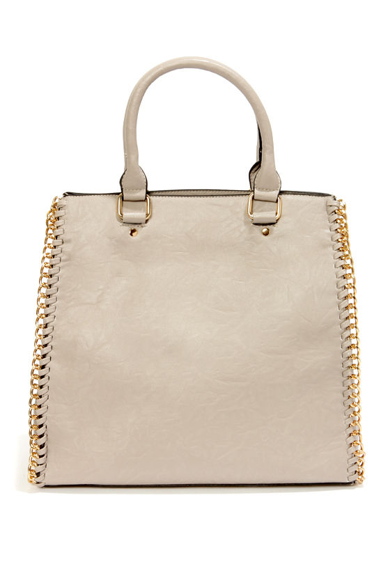 My Chain Squeeze Taupe Handbag at Lulus.com!