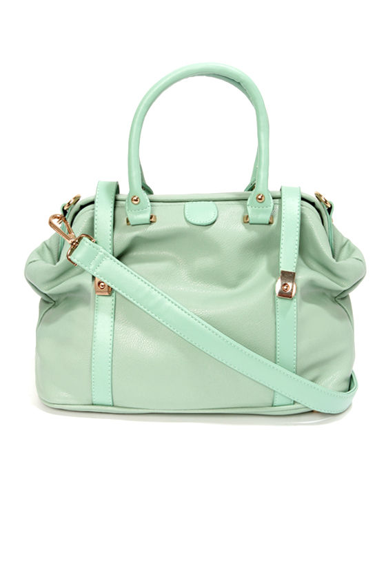 Cute Mint Green Handbag - Mint Green Purse - Doctor Handbag - $44.00