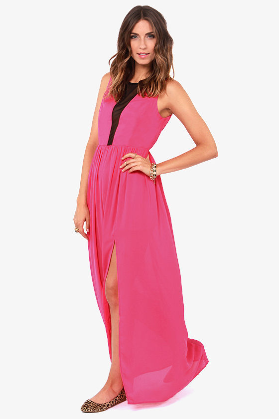 Pull the Plunge Fuchsia Maxi Dress at Lulus.com!