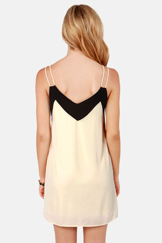 Straps Fifth Avenue Black and Ivory Dress at Lulus.com!