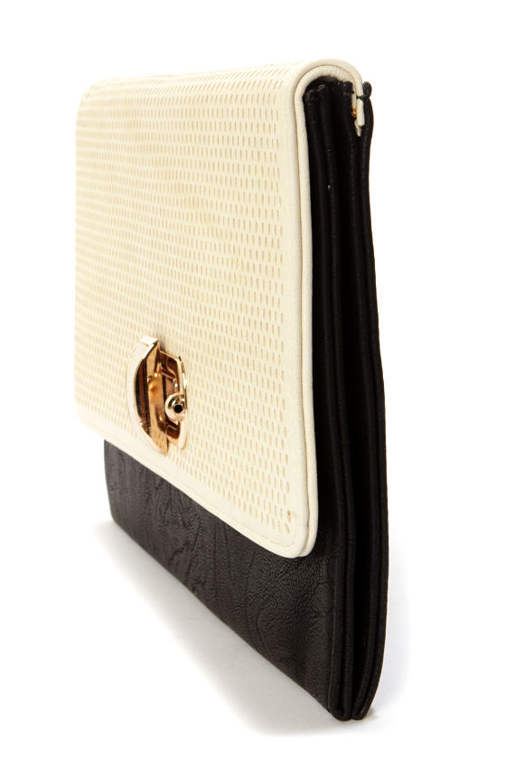 Top Perfor-Rated Black and Cream Clutch at Lulus.com!