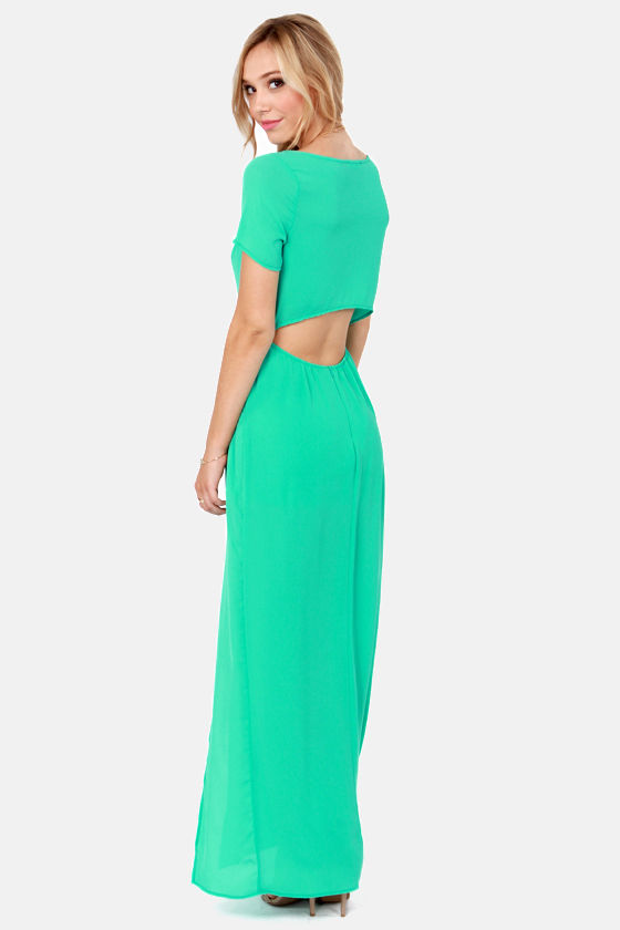 Don't Call It a Comeback Sea Green Maxi Dress at Lulus.com!