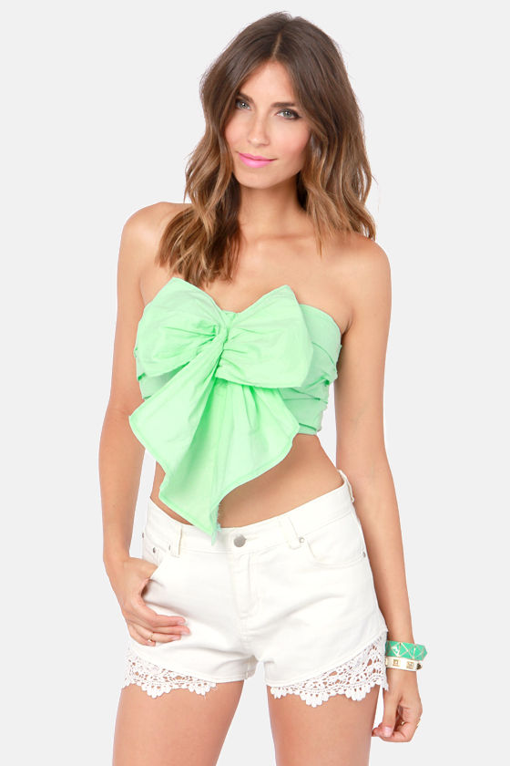 86d695b27edfe6 Sexy Strapless Top - Mint Top - Bustier Top - $41.00