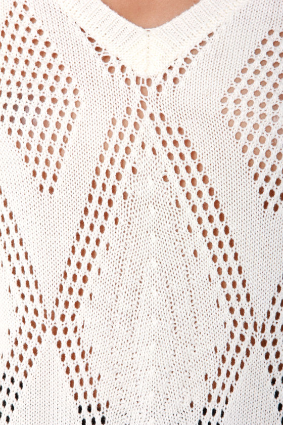 Mink Pink View Finder Cream Sweater at Lulus.com!