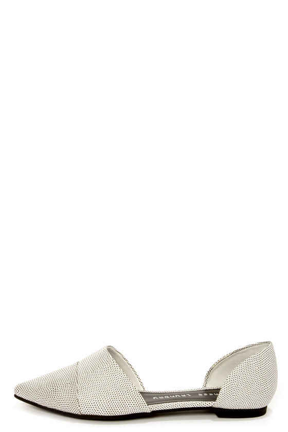 14f2a8d1f Chinese Laundry Easy Does It Speckle Black and White Flats - $59.00