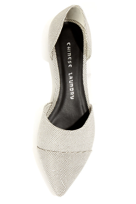 Chinese Laundry Easy Does It Speckle Black and White Flats at Lulus.com!