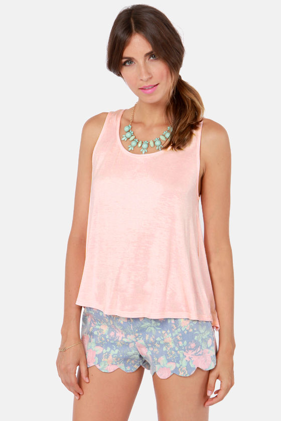 A La Bow-ed Pink Lace Tank Top at Lulus.com!