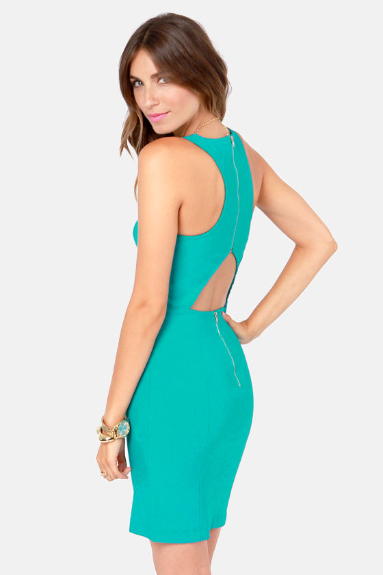 LULUS Exclusive Breaking Curve-few Teal Dress at Lulus.com!