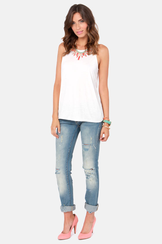 Chic Week Ivory Tank Top at Lulus.com!