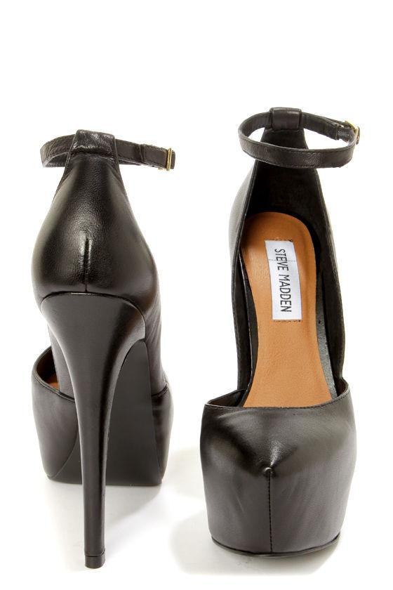 8a4361259 Steve Madden Deeny Black Leather D'Orsay Platform Pumps - $99.00
