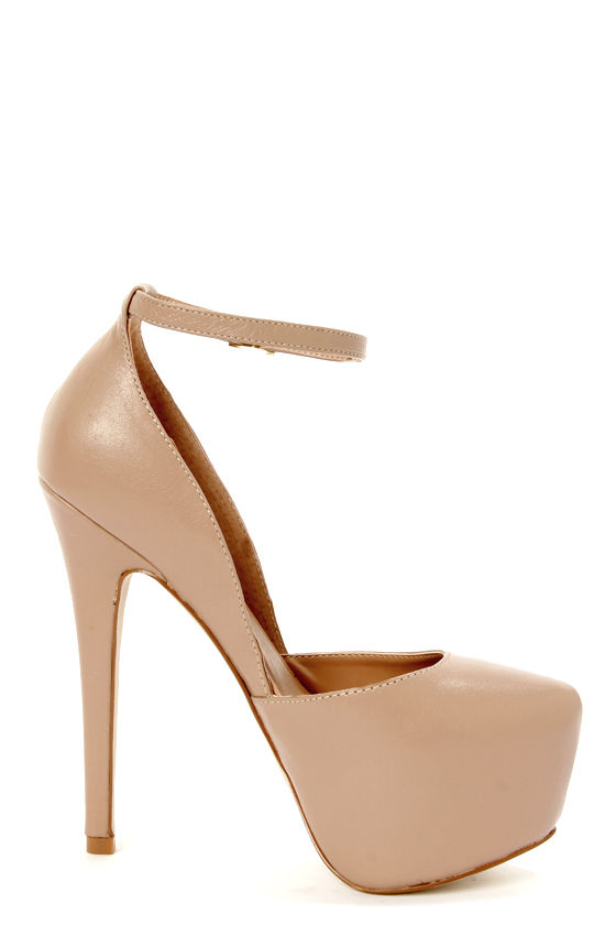 Steve Madden Deeny Blush Leather D'Orsay Platform Pumps at Lulus.com!