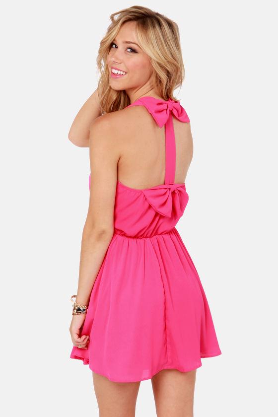 Flirty Hot Pink Dress