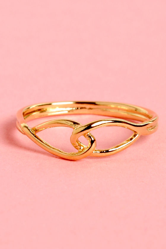 I Link I Can Gold Knuckle Ring at Lulus.com!