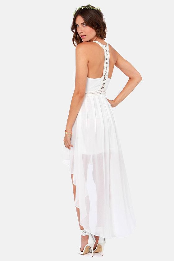 Ivory High Low Dress