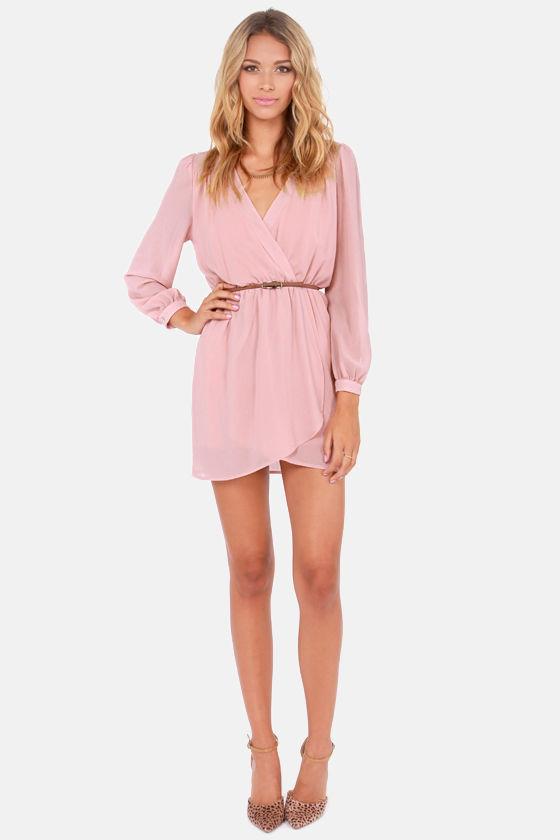 LULUS Exclusive Under Wraps Blush Pink Wrap Dress at Lulus.com!