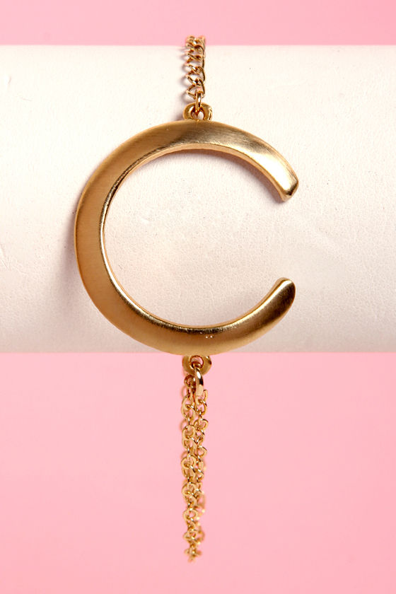 C You Soon Gold Bracelet at Lulus.com!