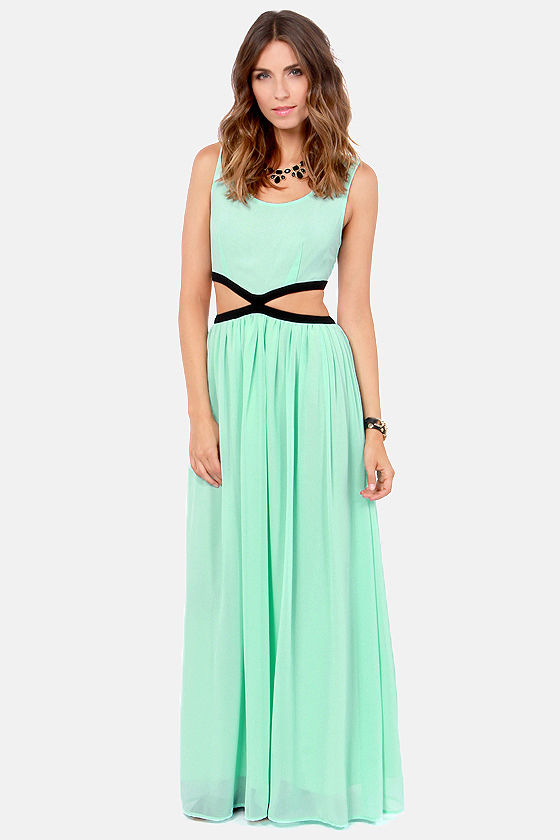 Blaque Label See You Around Cutout Mint Maxi Dress at Lulus.com!