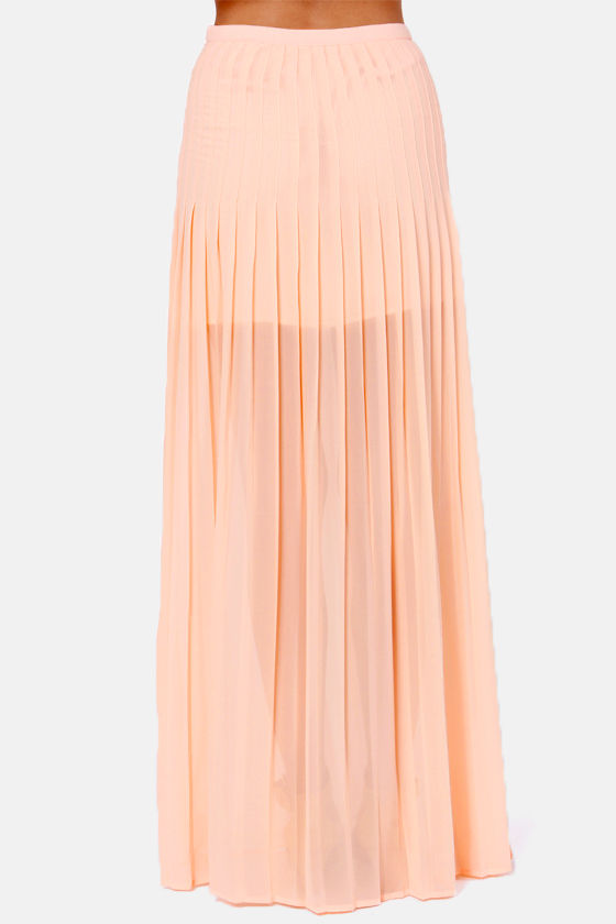 Blaque Label Pretty Parfait Peach Maxi Skirt at Lulus.com!
