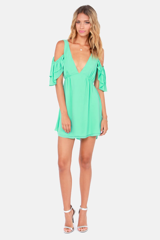 Salsa Dancer Backless Mint Dress at Lulus.com!