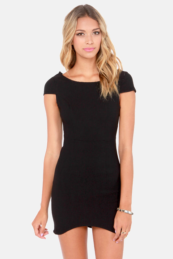 Fire with Fire Backless Black Dress at Lulus.com!