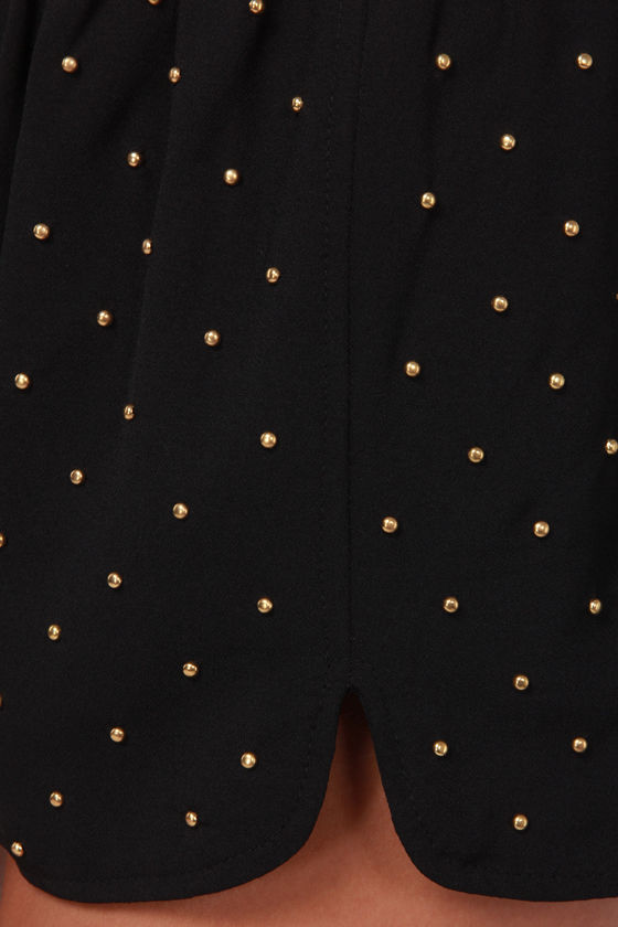 Goody Gold-Drops Studded Black Shorts at Lulus.com!