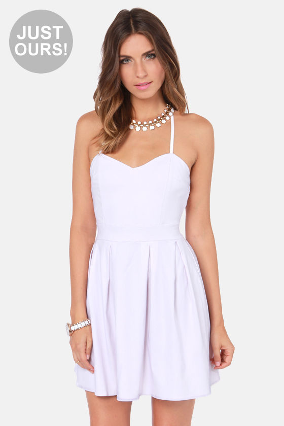 cute backless dress white dress. Black Bedroom Furniture Sets. Home Design Ideas