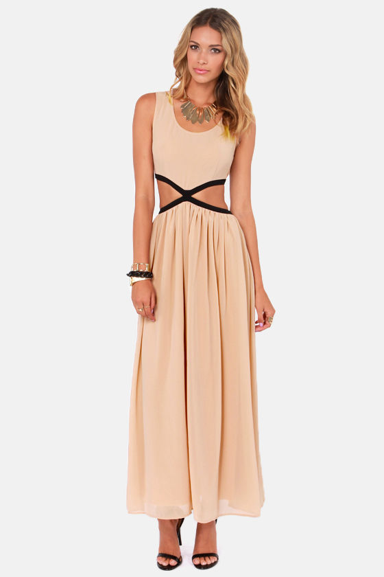 Blaque Label See You Around Cutout Blush Maxi Dress at Lulus.com!