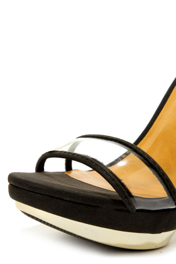Shoe Republic LA Wolff Black and Gold Plated Platform Heels at Lulus.com!
