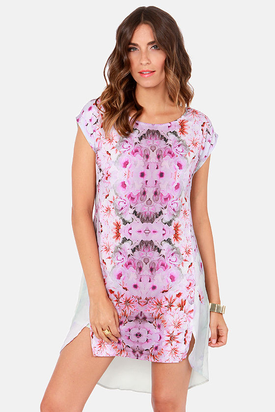 Ladakh Floral Mirage Print Dress at Lulus.com!