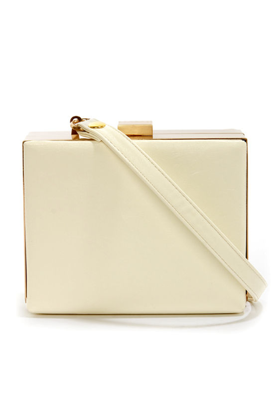 Box-y Lady Ivory Clutch at Lulus.com!
