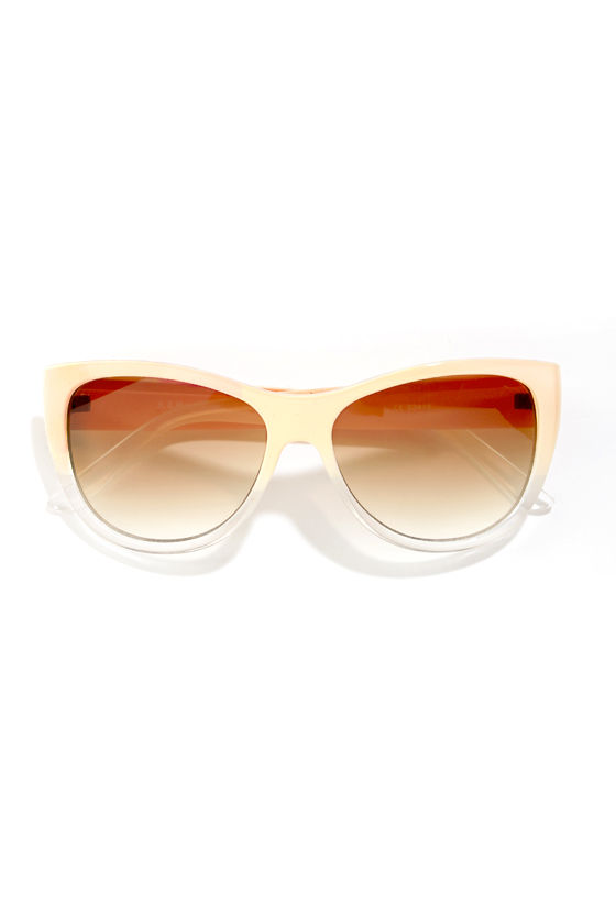 Marilyn Ombre Cream Sunglasses at Lulus.com!
