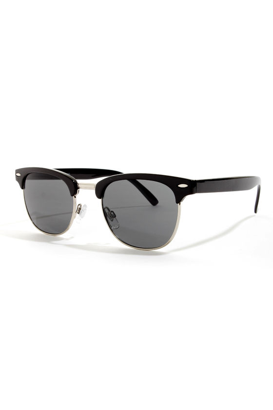 Soho Black Sunglasses at Lulus.com!
