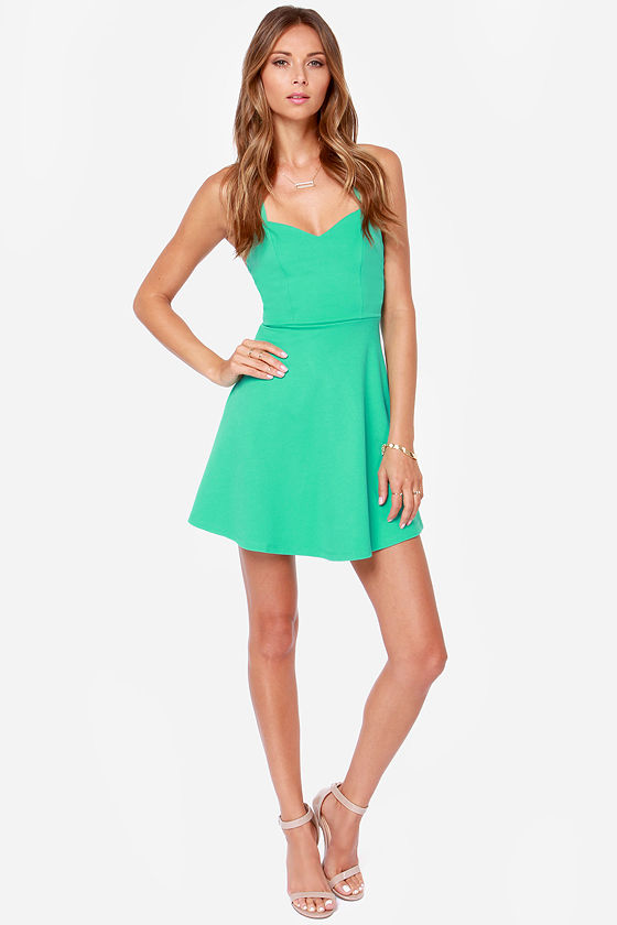 LULUS Exclusive Take Heart Sea Green Dress at Lulus.com!