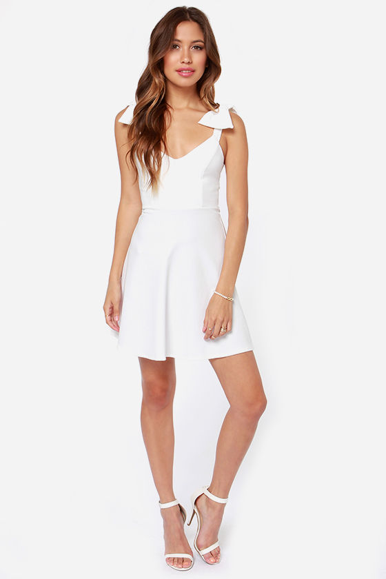 Double Bow-nus Ivory Dress at Lulus.com!