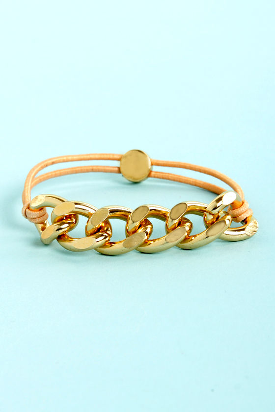 Chain-y Days Peach Bracelet at Lulus.com!